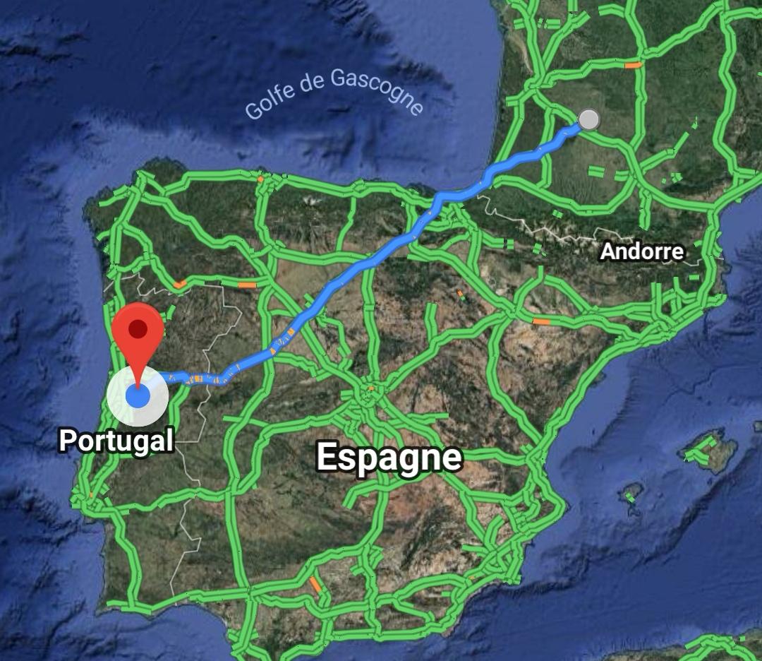 Trajet Portugal